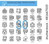 passive income opportunities  ... | Shutterstock .eps vector #481667035