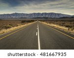 Open Road Running Straight Ove...