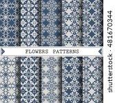 flower vector pattern pattern... | Shutterstock .eps vector #481670344