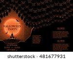 halloween party booklet. vector ... | Shutterstock .eps vector #481677931