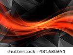 red orange modern bright waves...   Shutterstock . vector #481680691