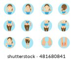 sick woman main areas of the... | Shutterstock .eps vector #481680841
