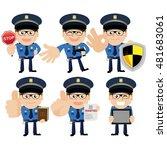 people set   profession  ... | Shutterstock .eps vector #481683061