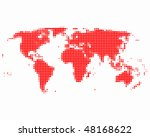 world map | Shutterstock .eps vector #48168622