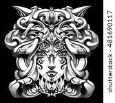 shaman is a weird hat   Shutterstock .eps vector #481690117
