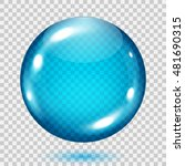 big translucent light blue... | Shutterstock .eps vector #481690315