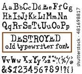 vector old typewriter font.... | Shutterstock .eps vector #481698817