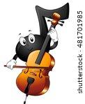 mascot illustration of a... | Shutterstock .eps vector #481701985
