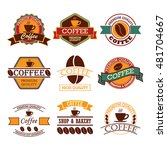 coffee badges | Shutterstock .eps vector #481704667