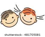 boy and girl  vector icon | Shutterstock .eps vector #481705081