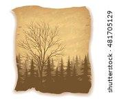 landscape  deciduous and... | Shutterstock . vector #481705129