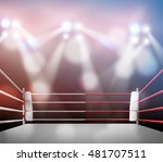 boxing ring with illumination... | Shutterstock . vector #481707511