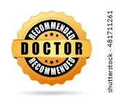 doctor recommended gold icon... | Shutterstock .eps vector #481711261