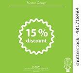 discount fifteen  15  percent...   Shutterstock .eps vector #481718464