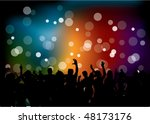 club party with dancing people   Shutterstock .eps vector #48173176