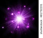 purple glitter particles...   Shutterstock .eps vector #481732231