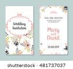 wedding set. romantic vector... | Shutterstock .eps vector #481737037