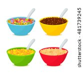 set of different cereals and... | Shutterstock .eps vector #481739245
