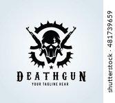 death gun logo  skull and gun... | Shutterstock .eps vector #481739659