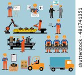 factory production process of... | Shutterstock .eps vector #481741351