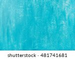 bright blue painted old plywood ...