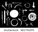 collection of graphic elements. ... | Shutterstock .eps vector #481743295