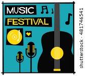 music festival   flat style... | Shutterstock .eps vector #481746541