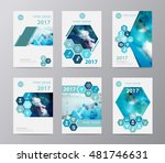 blue annual report brochure... | Shutterstock .eps vector #481746631