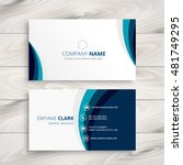 blue wave business card design | Shutterstock .eps vector #481749295