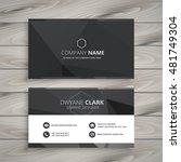 black business card design | Shutterstock .eps vector #481749304