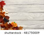 halloween homemade gingerbread... | Shutterstock . vector #481750009