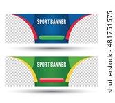 sport background banner... | Shutterstock .eps vector #481751575