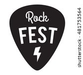 rock fest badge label. for... | Shutterstock .eps vector #481753564