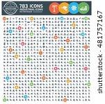 industry icon set clean vector | Shutterstock .eps vector #481757167