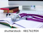 Stethoscope Lying On A Notebook ...
