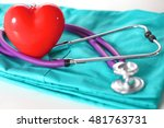stethoscope shaping  heart and  ... | Shutterstock . vector #481763731