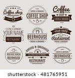 vintage logo. coffee shop... | Shutterstock .eps vector #481765951