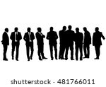 businessman in suit on white... | Shutterstock . vector #481766011