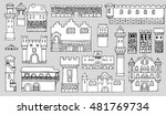 black and white line drawing ...   Shutterstock .eps vector #481769734