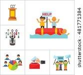 politics icon set | Shutterstock .eps vector #481771384