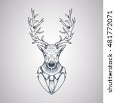 deer head in a graphic style | Shutterstock .eps vector #481772071