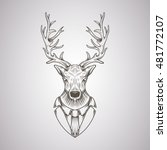 deer head in a graphic style | Shutterstock .eps vector #481772107