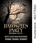 halloween flyer or poster... | Shutterstock .eps vector #481773361
