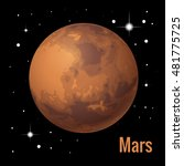 mars is the fourth planet from...   Shutterstock .eps vector #481775725