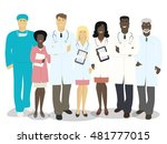the team of doctors and medical ... | Shutterstock .eps vector #481777015