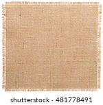 burlap fabric torn edges  sack... | Shutterstock . vector #481778491