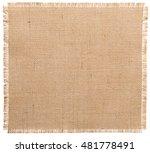 burlap fabric torn edges  sack... | Shutterstock . vector #481778491