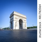 view of a arc de triomphe in... | Shutterstock . vector #481782064