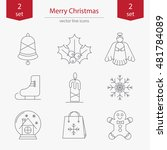 set of christmas and new year... | Shutterstock .eps vector #481784089