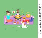 vector flat style illustration... | Shutterstock .eps vector #481785115